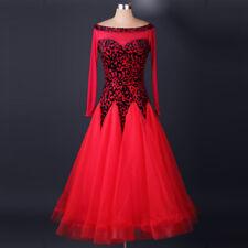 Ladies Foxtrot Tango Waltz Ballroom Rhythm Competition Latin Dance Dresses M005