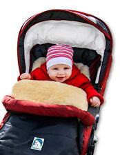 Eisbärchen Lammfell-Fussack para Carrito de Bebé o Silla Paseo Real Piel Cordero