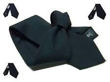 Cravatta lana uomo blu notte tendente al nero a righe fini blu cravatte eleganti