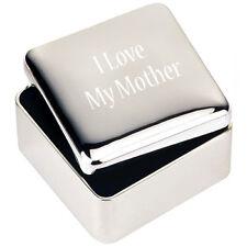 bijoux en argent BOÎTE DE BIBELOT CADEAU J'aime mon Mère