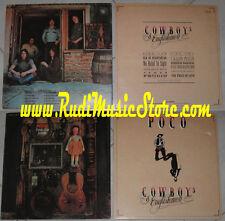 LOTTO 2 LP POCO cowboys from the inside PROMO GOVERNMEN