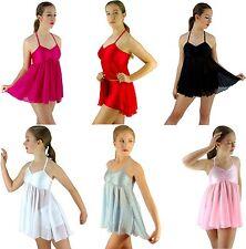 White Black Pink Red Blue Modern Dance Lyrical Ballet Costume - 6 8 10 12 14