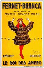 Fernet Branca 1909 Italian Aperitif Vintage Poster Print Wall Decor Art