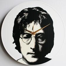 "John Lennon - The Beatles - 12"" Vinyl Record Clock, Paul McCartney, Harrison"