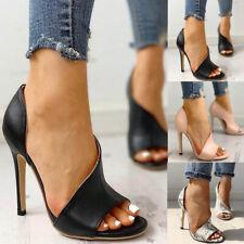 Damen Party Sandalen High Heels Stilettos Sexy Peep Toes Pumps Sommerschuhe