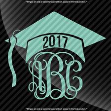 Graduation Cap Monogram Decal Sticker - TONS OF OPTIONS