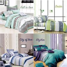 Super King Size Bed 100% Cotton Quilt/Duvet Cover +Pillowcase Set(Multi Design)