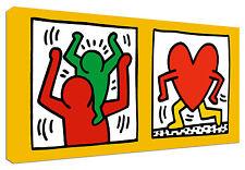Quadro Moderno Arredamento Keith Haring Daddy Arte Arredo Casa Stampa su Tela