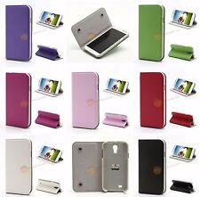 Leder Tasche für Samsung Galaxy S 4 i9500, i9502, i9505 + Displayfolie