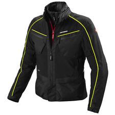 Spidi Inter Cruiser Waterproof Textile Motorcycle Jacket - Black / Fluo Yellow