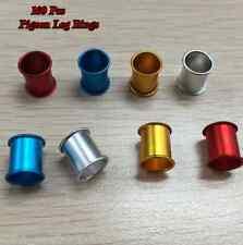 100 pcs 4 Colors Birds Aluminium foot ring 8 mm Pigeons Quail Parrot