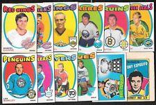 1971-72 OPC O PEE CHEE NHL HOCKEY CARD ERROR VARIATION 133-264 BOOKLET SEE LIST