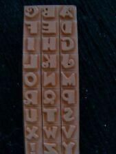 "Stamping & Cardmaking Rubber Stamps A-Z 1/2"" Alpha Fonts 3, alphabet"