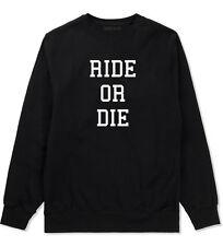 Kings Of NY Ride Or Die Crewneck Sweatshirt Black White