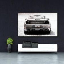 LEINWAND BILD ER XXL POP ART FORD MUSTANG GT ABSTRAKT GRAFFITI POSTER 150x90