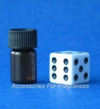 Mini Glass Vial Amber Bottles 5/8 dram (2ml) Sample Size Perfume Oils Decanting~