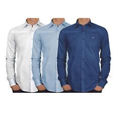 Camisa Para hombres Calce Ajustado Mangas Largas Con Cuello AKE Top Casual S M L XL XXL