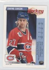 1992-93 Panini Album Stickers French #150 Shayne Corson Montreal Canadiens Card