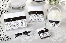 Lillian Rose Wedding Black White Ring Pillow / Guest Book / Pen Set / Leg Garter