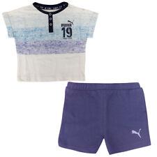 PUMA Estilo Minicats para niños infantil Camiseta Shorts Set Azul 836777 02