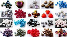 6mm 8mm 10mm 12mm 16mm 30mm cuore vetro ceco perline ciondoli-VARI COLORI