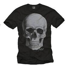 Punk Rock Musik Herren T-Shirt mit Totenkopf - Männer Tattoo Biker Skull Shirt