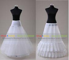 White A Line Hoops Wedding Dress Ball Gown Promo Crinoline Petticoat Slip Skirts