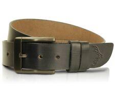 Leather Mens Belt Belts Strap 100% Genuine Full Grain Real Black Tan Jeans Size#