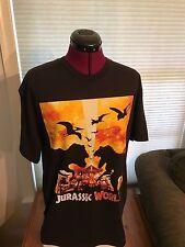 NEW NWT Licensed Jurassic World No Leaving Black 100% COTTON T-Shirt T-REX