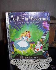 LITTLE GOLDEN BOOK ALICE IN WONDERLAND 1951