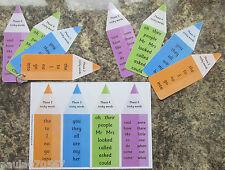 TRICKY parole fasi 2-5 tutti i colori codificati per un facile utilizzo con parole ad alta frequenza