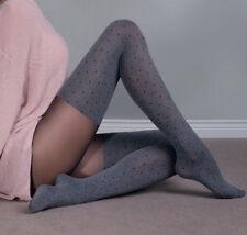 Collant sexy fantaisie femme imitation bas jambière épais 60 den 3D Gabriella