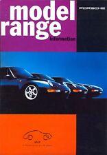 Porsche 968 911 Carrera 928 1993-94 mercado del Reino Unido folleto de ventas