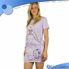 Camicia da notte donna corta estate moda cotone manica corta fine serie DECAM008