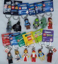 New Genuine Lego Minifigura Llaveros/cadenas 12 a elegir Fiesta/Stocking Relleno