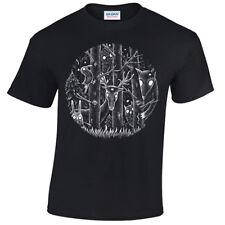 Niños Fantasía oscura Bosque Camiseta Alice Childrens Goth Tim Burton mágico Gótico