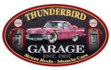 1957 Ford Thunderbird Hardtop Garage Sign Wall Art Graphic Sticker