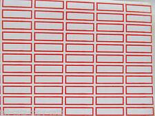 10x feuilles = 800 autocollants prix inventaire étiquetage rouge/blanc ru vendeur gratuit p&p