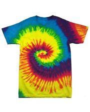 20 x GILDAN Tie Dye 100% Cotton Tee T Shirt Small-2XL Hippie Colour Fun Loud