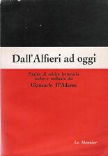 GIANCARLO D'ADAMO: DALL'ALFIERI AD OGGI _ CRITICA LETTERARIA _'64_ SCAPIGLIATURA