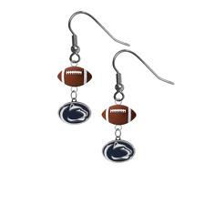 Penn State Nittany Lions Earrings Dangle Hook PICK YOUR SPORT - NEW