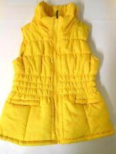 Girls coats Youth clothes Yellow Ladies Ski Vest Coat Girls jacket Vest 6/7, 8