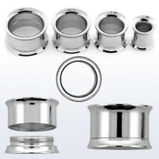 FLESH TUNNEL PLUG PIERCING OHR DOUBLE FLARE GEWINDE  6mm/8mm/10mm/12mm/14mm