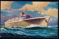 PANAMA LINE POSTCARD STEAMSHIP 1959