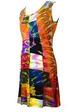 Festival Summer Tie Dye dress Boho Hippy Cotton Viscose Size 8-14 Nepal Tunic