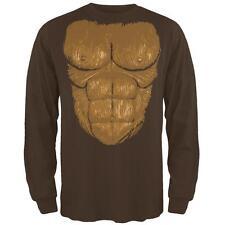 Halloween Sasquatch Bigfoot Costume Mens Long Sleeve T Shirt