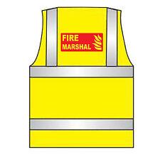 Fire Marshal Hi Vis Chaleco-Amarillo anaranjado-Impreso-Hi Viz Chaleco De Seguridad