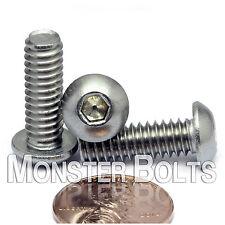 1/4-20 - Stainless Steel Button Head Socket Cap Screws SAE Coarse Thread 18-8 A2