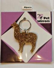 Glitter acrylic Alpaca keyring/bag charm - 9 colour choices.