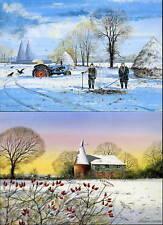 Sussex & Kent hiver Scènes carte de vœux 8 différent - Côte Maisons GRANGES